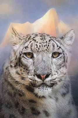 Photograph - Snow Leopard At The Mountain by Jai Johnson