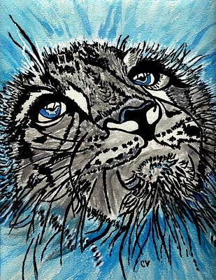 Painting - Snow Leopard by Connie Valasco