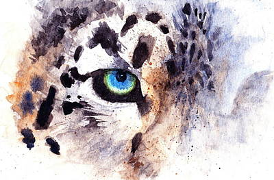 Cats Painting - Snow Leopard by Max Good