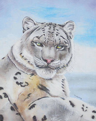 Art Print featuring the painting Snow Leopard by Thomas J Herring
