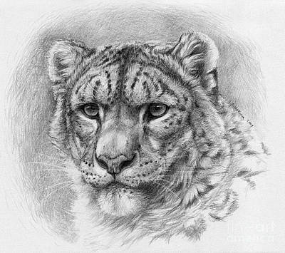 Snow Leopard - Panthera Uncia Art Print by Svetlana Ledneva-Schukina