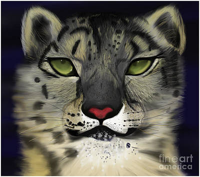 Snow Leopard - The Eyes Have It Art Print