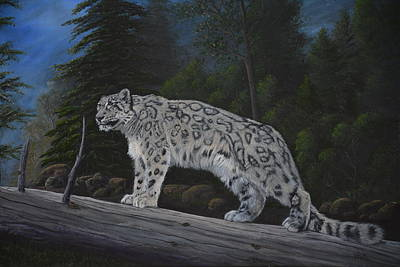 Snow Leopard Original by Vicky Path
