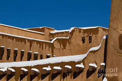 Photograph - Snow Lines On Adobe Walls by Martha Marks