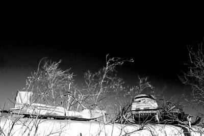 Snow Machines On The Roof Art Print
