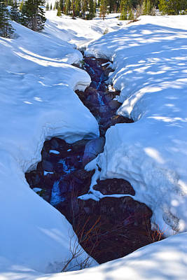 Photograph - Snow Melt by Frank Wilson