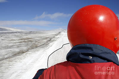 Photograph - Snow Mobile In The Sun On A Glacier by Patricia Hofmeester