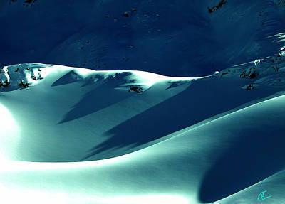 Snow Mountain In Austria  Art Print by Colette V Hera  Guggenheim