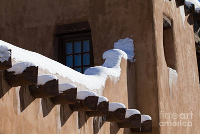 Photograph - Snow On Adobe In Santa Fe by Martha Marks
