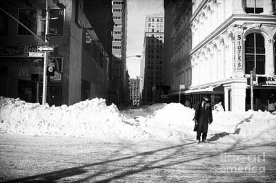 35mm Photograph - Snow On Broadway 1990s by John Rizzuto