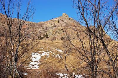 Photograph - Snow On Mato Paha-bear Butte by Dakota Light Photography By Dakota