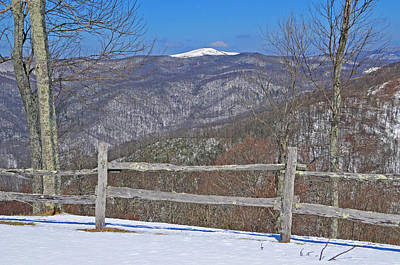 Photograph - Snow On Max Patch Mountain by Alan Lenk