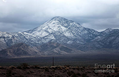 Photograph - Snow On Mount Charleston by John Rizzuto