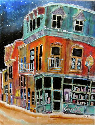Litvack Painting - Snow On Notre Dame by Michael Litvack