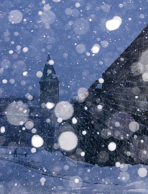 Art Print featuring the photograph Snow On Old Quebec City by Arkady Kunysz