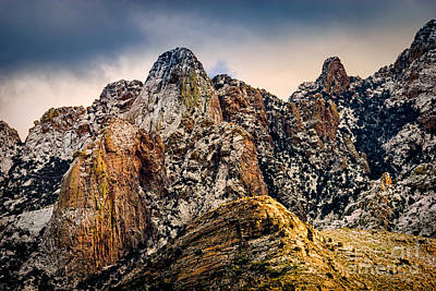 Art Print featuring the photograph Snow On Peaks 45 by Mark Myhaver