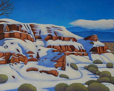 Painting - Snow On The Bluff by Gayle Faucette Wisbon