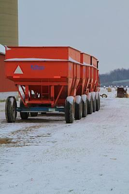 Snow On The Farm Art Print by Dan Sproul