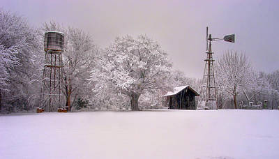 Photograph - Snow On The Farm by David and Carol Kelly