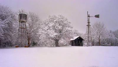 Photograph - Snow On The Farm by David and Carol Kelly