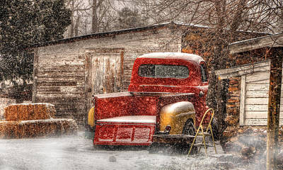 Photograph - Snow On The Farm by Ken Smith