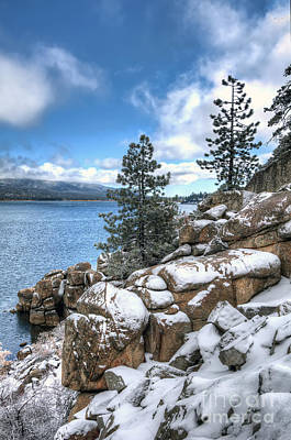 Photograph - Snow On The Lake 2 by Eddie Yerkish