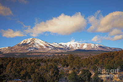 Flagstaff Wall Art - Photograph - Snow On The Peaks by Mike Dawson