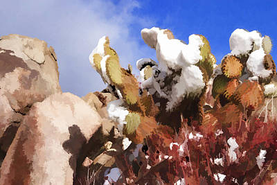 Photograph - Snow On The Pear by Scott Campbell
