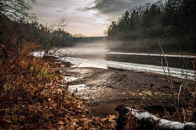 Photograph - Snow On The River by Anthony Thomas