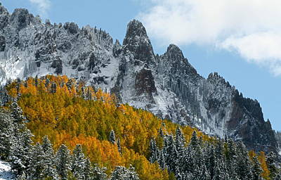 Nature Photograph - Snow On The San Juan Mountains In Autumn by Jetson Nguyen