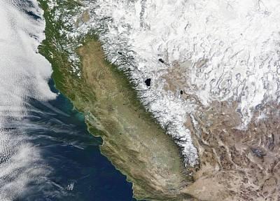 2000s Photograph - Snow On The Sierra Nevada by Nasa