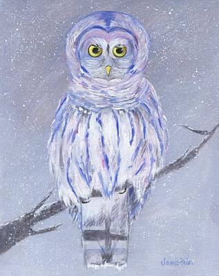 Painting - Snow Owl by Jamie Frier