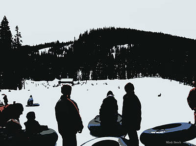 Art Print featuring the photograph Snow Park Fun  by Mindy Bench