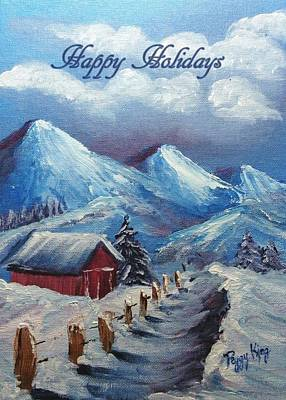 Painting - Snow Path - Happy Holidays by Peggy King