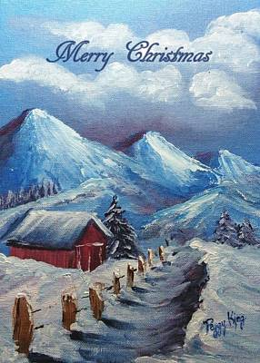 Painting - Snow Path - Merry Christmas by Peggy King