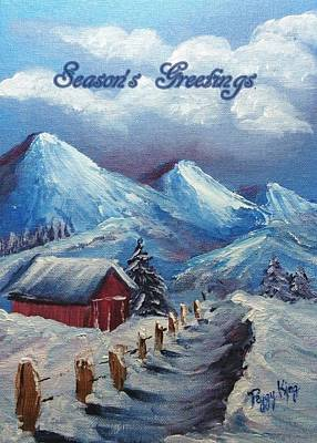 Painting - Snow Path - Season's Greetings by Peggy King