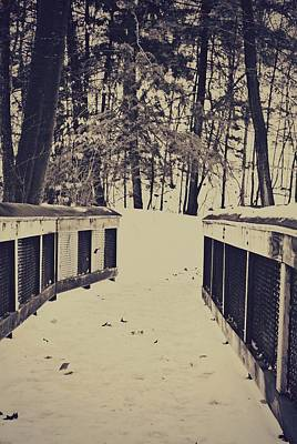 Snow Path Art Print by Dawdy Imagery