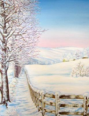 Painting - Snow Path by Inese Poga