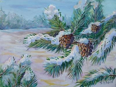Snow Pines Original by Saga Sabin