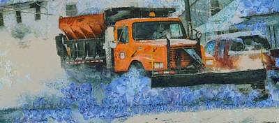 Photograph - Snow Plow by Dan Sproul