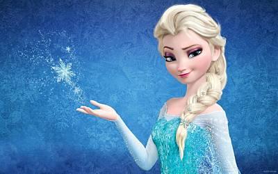Digital Art - Snow Queen Elsa Frozen by Movie Poster Prints