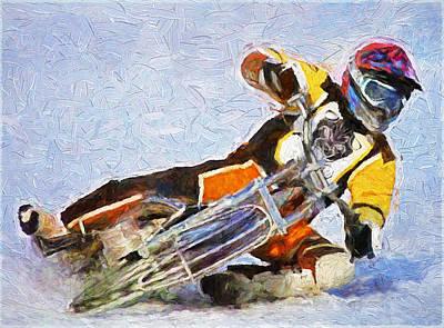 Snow Race Art Print