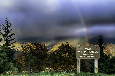 Photograph - Snow Rainbow In Fall From The Blue Ridge Parkway by John Haldane