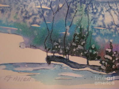 Painting - Snow Reflections by Gretchen Allen