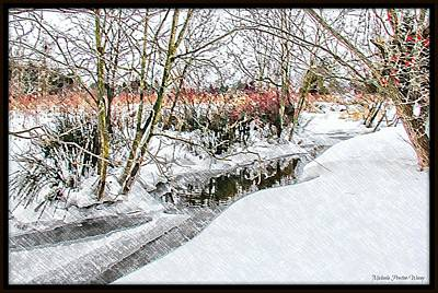 Photograph - Snow River by Michaela Preston