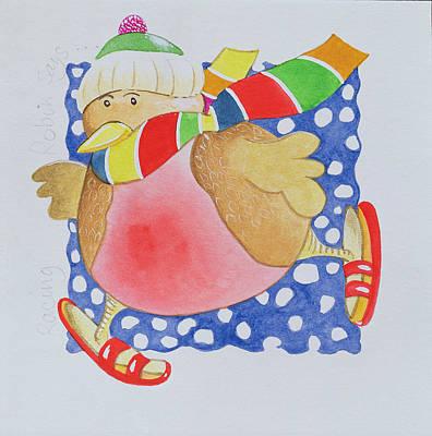Snow Robin Print by Tony Todd