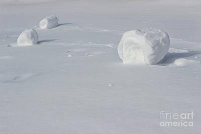 Rolled Yard Photograph - Snow Roller Trio #2 by Karen Adams