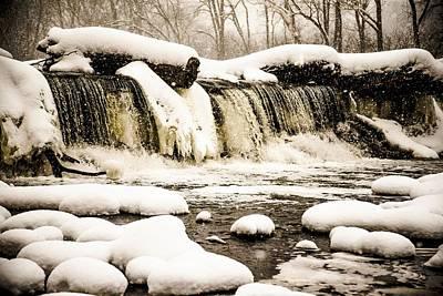 Snow Rush Print by Brad Tammaro