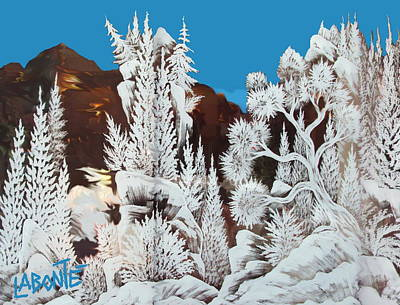 Snowscape Digital Art - Snow Scape 2 by Mario Labonte