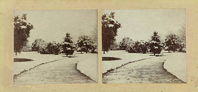 Snow Scene Cheltenham, Uk, Baynham Jones Art Print